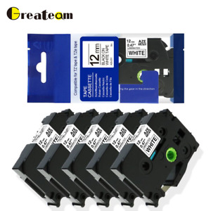 P touch Label Tape Compatible For Brother Tz 231 Tze 231 Laminated 12mm 5 Packs