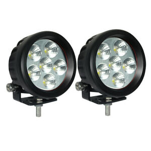 2x 3 5 Inch 18w Led Work Light Flood Round Driving Fog Lamp Offroad 4wd Atv Suv