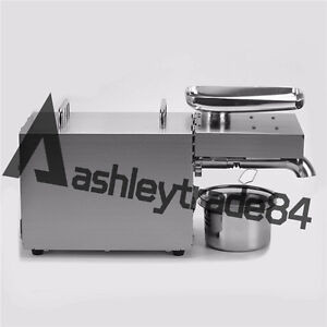 110v Automatic Oil Press Stainless Steel Peanut Seed Expeller Rg 306