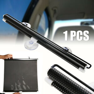 Car Truck Rear Retractable Window Blcak Windshield Roller Blind Sun Shade Visor