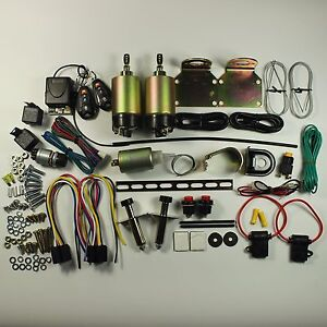 2 Door Handle Popper Kit 80 Lb Remote Shaved Trunk Kit Included Remotes New