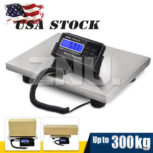 Lcd Ac Digital Floor Bench Scale Postal Platform Shipping 300kg Weighing Machine