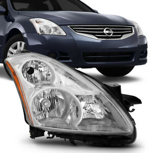 For 2010 2012 Nissan Altima Sedan Right Passenger Side Chrome Head Light Lamp