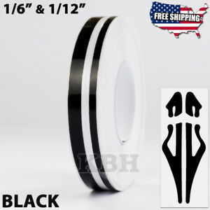 1 2 Roll Vinyl Double Line Pinstriping Pinstripe Decal Tape Sticker 12mm Black