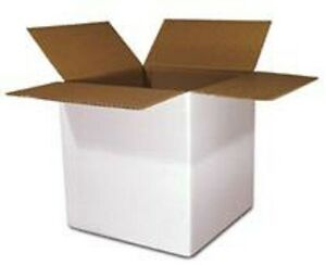 3 X 2 X 2 White Corrugated Mailers 50 lot Small Boxes For Shipping Or Storage