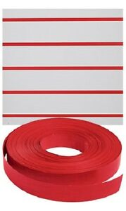 Vinyl Inserts Slatwall Panel Red Shelving Display 130 Ft 6 Rolls Decorative