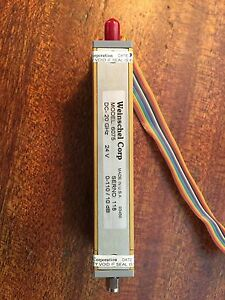 Weinschel Model 6075 Programmable Step Attenuator Dc 20 Ghz 110 Db 24v