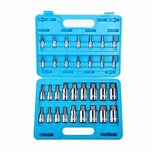 Master Hex Bit Socket Set 32pc Sae Metric Mechanic Kit Garage Shop Hand Tool New