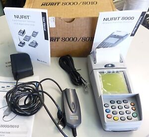Lipman Nurit 8000 Wireless Secure Palmtop Solution Credit Card Machine Verifone