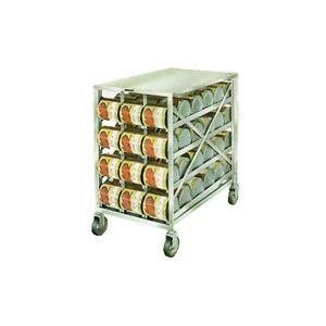 Lakeside 458 Stainless Steel Mobile Can Storage Dispensing Rack
