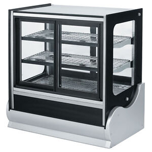 Vollrath 40886 36 Cubed Glass Cooler Display Case W Front Rear Access
