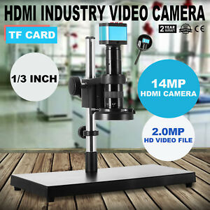 Hdmi Usb Industry Digital Stereo Microscope Camera Tf Video Recoder Safe