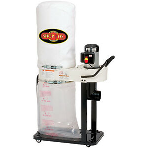 Wood Work Shop Dust Collector 1hp Motor 800cfm Filter Bag Garage Air Cleaner New