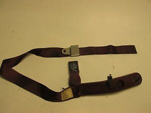 78 87 Buick Regal G Body Seat Bench Belt Sleeve Asembly Burgundy