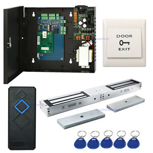 Single Door Security Entry Systems Kits Double Door 280kg Electric Magnetic Lock