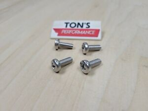 4 Replacement Luxury Auto License Plate Screws Stainless Steel Bolts For Lexus