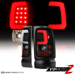 Black Tron Style Led Tail Lights Lamps For 1994 2001 Dodge Ram 1500 2500 3500