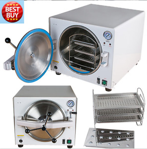 900w 18l Medical Autoclave Steam Sterilizer Dental Lab Sterilizer Equipment Tool
