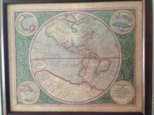 Mercator Map Of The Western Hemisphere High Quality Reproduction