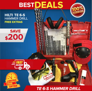 Hilti Te 6 s Hammer Drill Preowned Free Knife Bits Extras Quick Ship