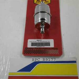 Racing Power Rpc R9177 Chrome Fuel Filter 3 8 Inlet Outlet