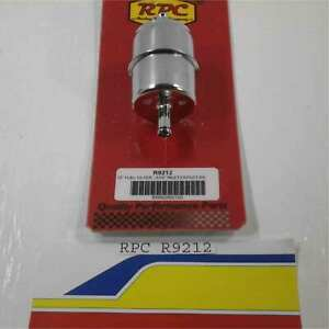 Racing Power Rpc R9212 Chrome Fuel Filter 5 16 Inlet Outlet Hose Barbs