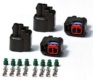 Ev6 Ev14 Fuel Injector Connector Plugs Uscar Clips Set Of Four Brand New