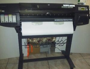 Hp Designjet 1055cm Plus Inkjet Printer Plotter 36 tested working