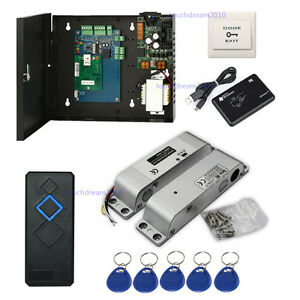 Single Door Entry Access Control System Kits Surface Mounted Electric Bolt Lock