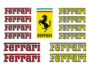 Ferrari Logo Red Yellow Decal Set