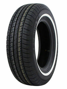 4 New Milestar P195 75r14 Ms775 92s White Side Wall All Season Touring Tires