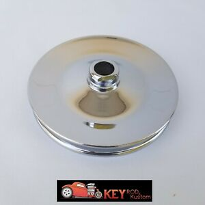 Chrome Saginaw Press On Power Steering Pulley Gm Chevy Single Groove