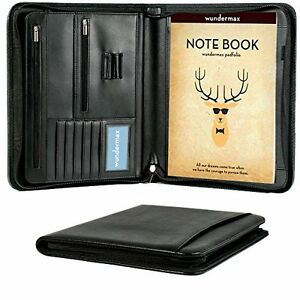 Pu Leather Padfolio Business Portfolio Organizer Writing Pad Document Hold Case
