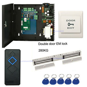 Single Door Entrance Access Control System Kits Double Door 600lbs Magnetic Lock