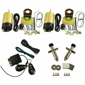 100lb 2 Door Shaved Door Handle Kit Popper Solenoid Street Rat Hot Rod Car Truck