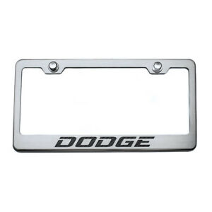 Acc Plate Frame White Carbon Fiber Dodge Inlay Fits Challenger charger brushed