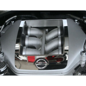 Acc Engine Shroud Cover Fits 2010 2013 Nissan Gt r 4pc Stainless Steel polished
