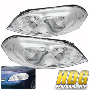 2006 2013 Chevy Impala Monte Carlo Replacement Headlight Lamps Chrome Clear Turn