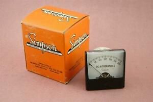Simpson Dc Microamperes Meter 0 To 300 Fs 50 Mv Scale 0 300 Uadc