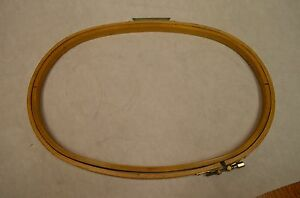 Melco Emc 16 X 11 Dh Oval Wood Industrial Embroidery Machine Hoops