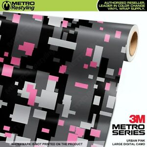 Large Digital Urban Pink Camouflage Vinyl Car Wrap Camo Film Sheet Roll Adhesive