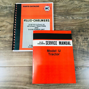 Allis Chalmers U Uc Tractors Service Parts Manual Catalog