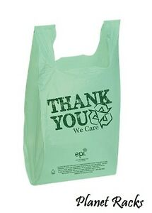 2500 Planet Racks Go Green Eco Friendly Thank You Plastic T Shirt Shopping Bags