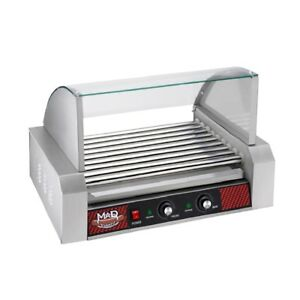 Great Northern Popcorn Commercial 24 Hot Dog 9 Roller Grilling Machine W Cover