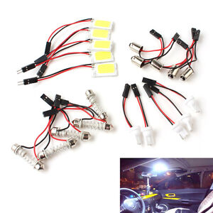 5pcs White 18 Smd Cob Led Car Panel Light Interior Dome Auto Light Bulb Lamp 12v