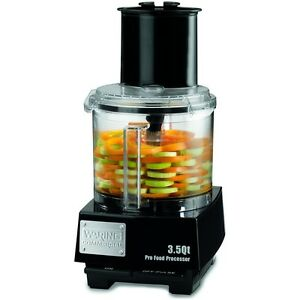 Waring Wfp14s 3 5 Quart Food Processor 1 Hp With S blade Discs
