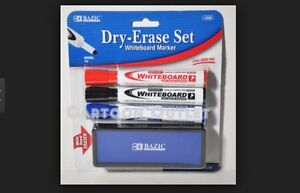 Bazic Whiteboard Marker With Eraser