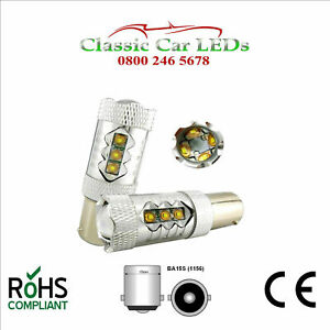 2x 80w Ba15s Cree 12v 24v High Power Led Bulb Reverse Land Rover 1156 382