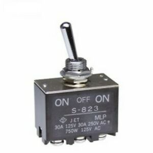 1 Toggle Switch Dpdt On off on High Screw Lug 30a amp 30vdc volt 125vac