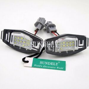 New 2pcs 18 Smd Led Number Plate Light For Honda Accord 2003 2012 2004 2005 2006